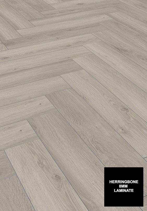FloorsAndMore - Silver Oak 8mm Herringbone 3773