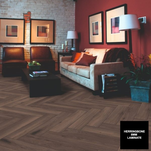 FloorsAndMore - Ferrara Oak 8mm Herringbone 3860