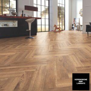 FloorsAndMore - Trevino Oak 8mm Herringbone 4764