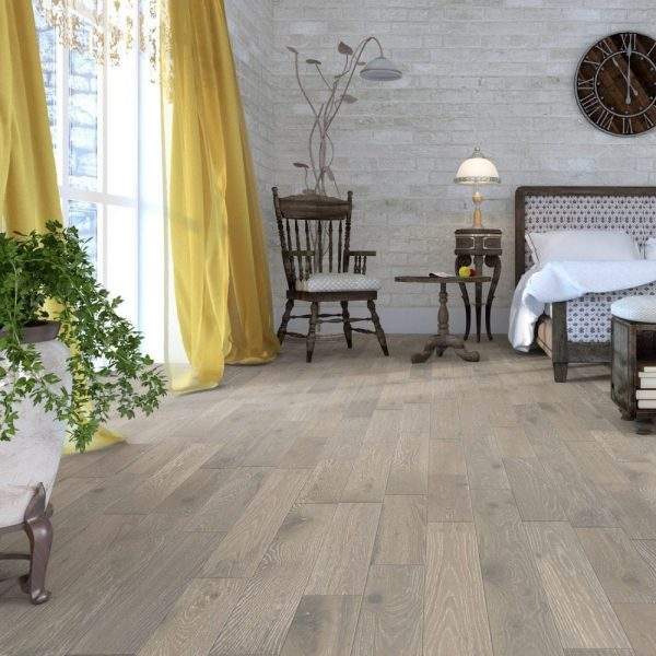 FloorsAndMore - Grey White Engineered Oak