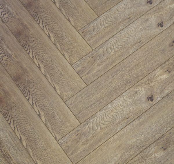 FloorsAndMore - 12mm Herringbone Laminate Flooring - Royal Oak