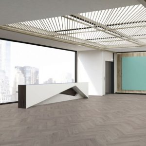 FloorsAndMore - Robust Grey Herringbone
